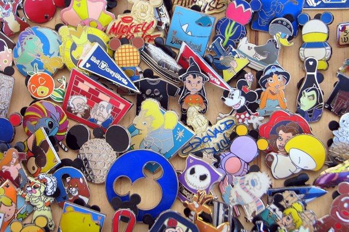 Disney Hidden Mickey Cast Lanyard Collector Badge Pin LOT of 30 Pins NO DOUBLES