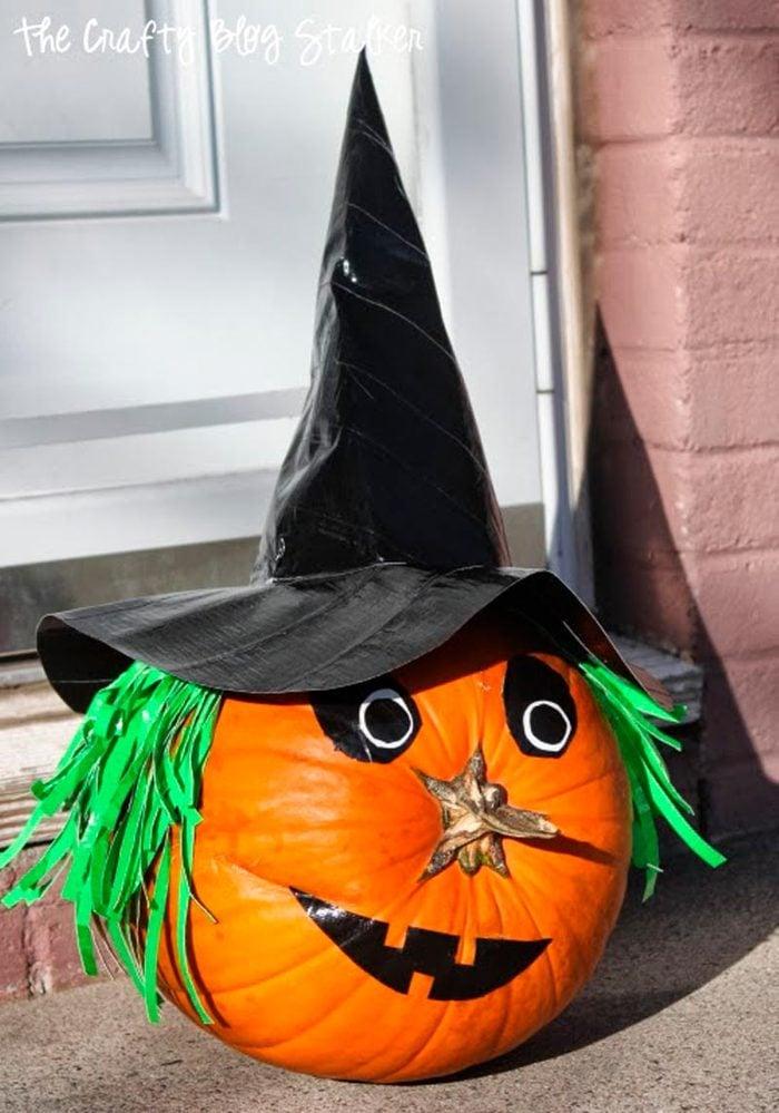 pumpkin witch halloween craft
