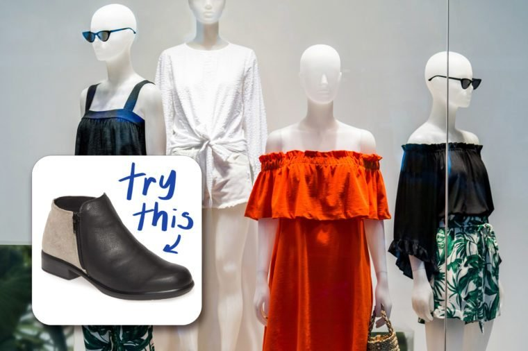 mannequins in a window display. try this bootie
