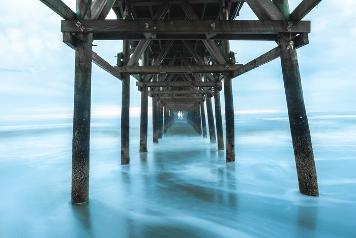 Cherry Grove Pier that looks like it goes on forever