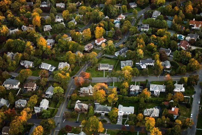 Aerial Photography Of Suburbs, Ny