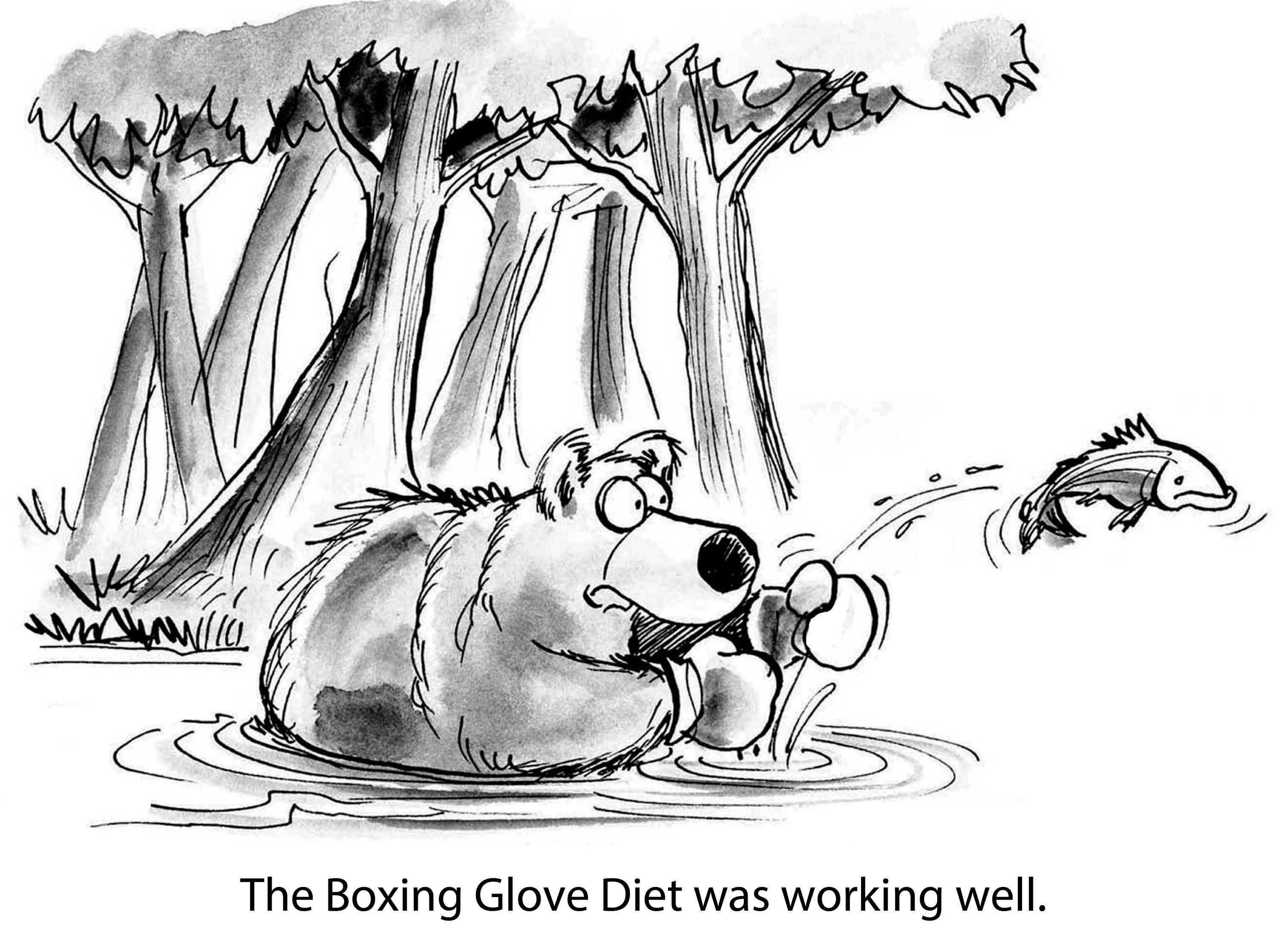 bear fish boxing glove diet