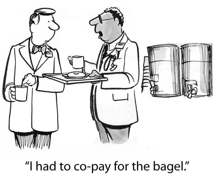 bagel co-pay cartoon