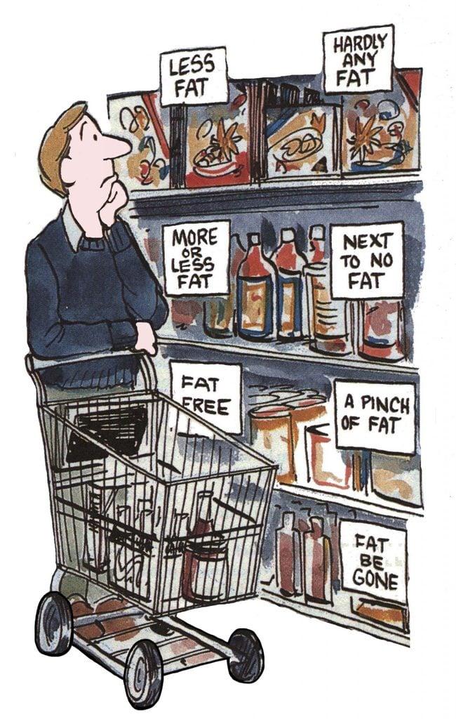 low fat options cartoon