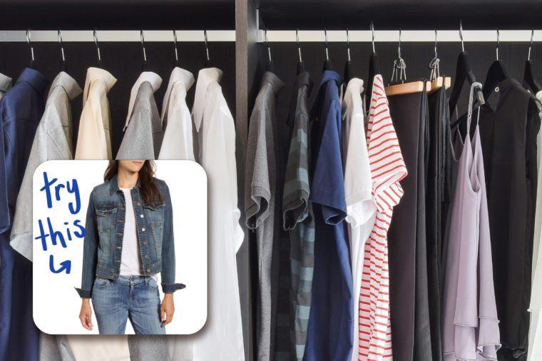 closet. try this denim jacket.
