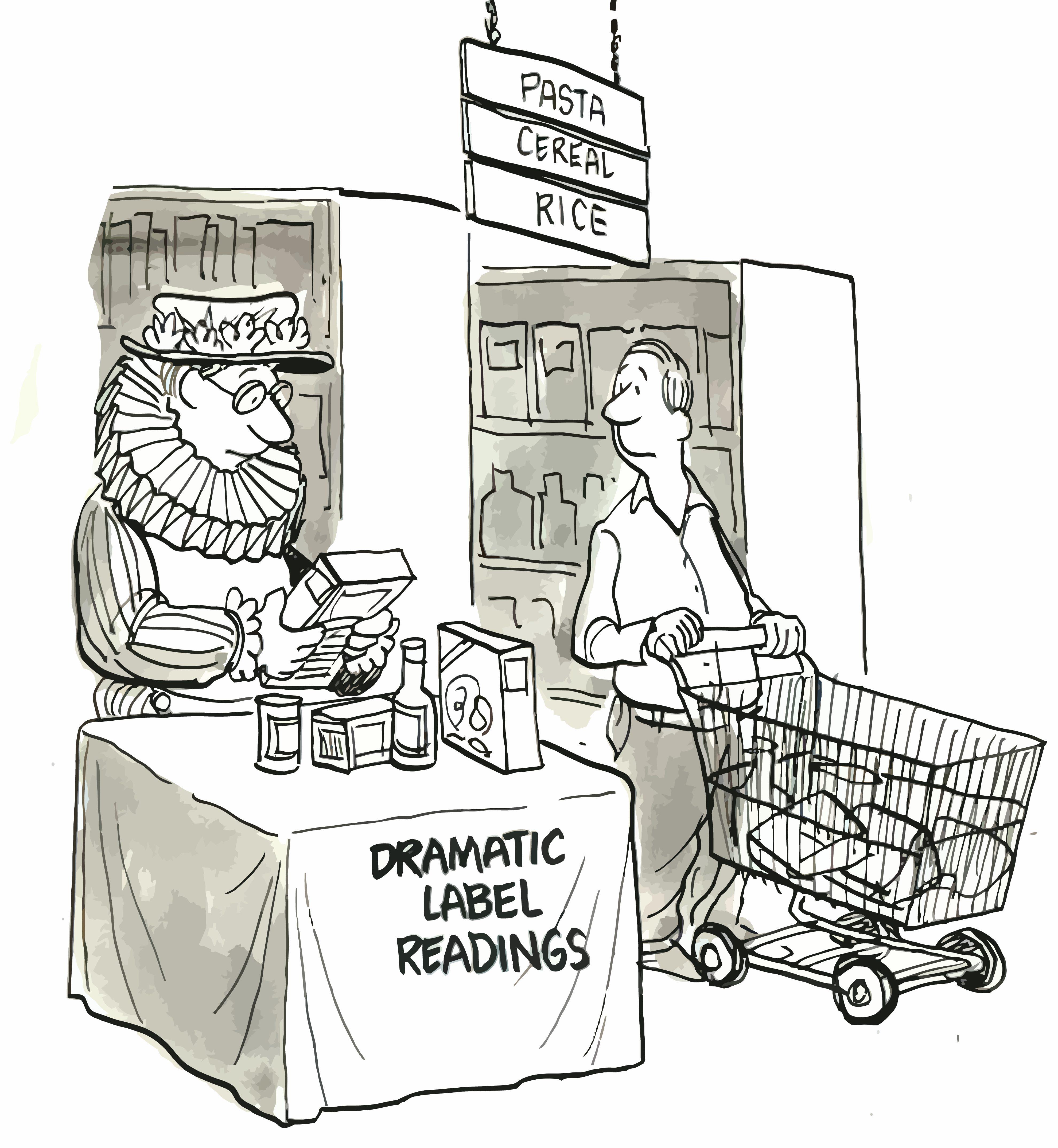 cartoon label readings