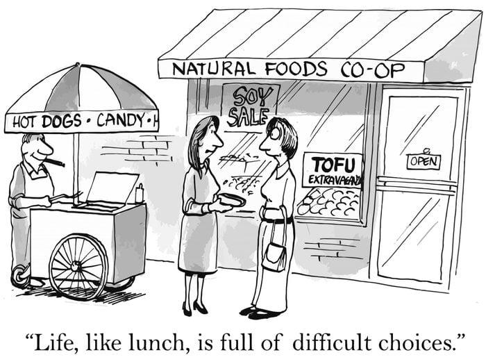 life is like lunch cartoon
