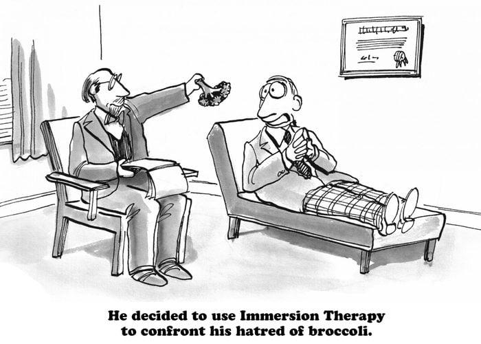 broccoli therapy cartoon