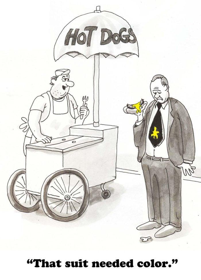 hot dog mustard cartoon