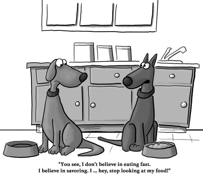 dogs eating cartoon