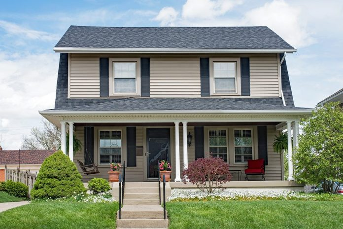 Two Story House with Open Porch