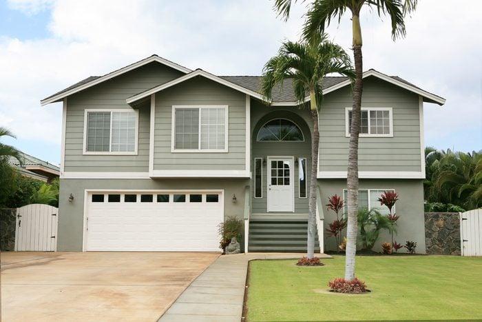 Gray house in Hawaii