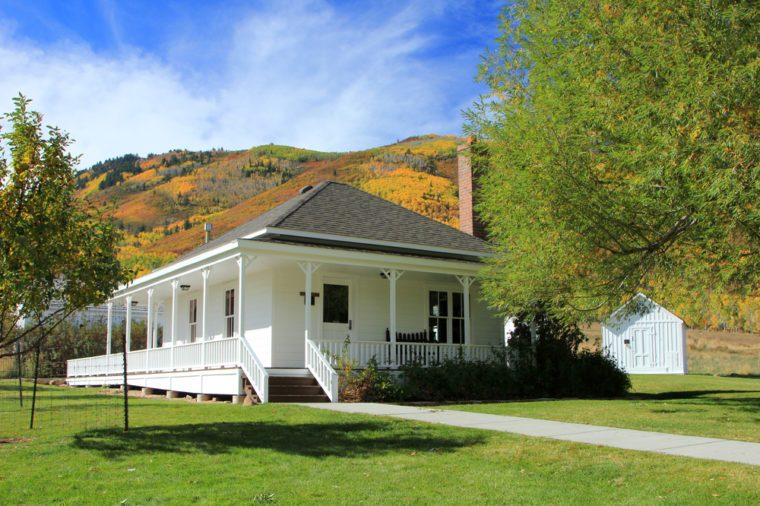 Historic farm house in Park City, Utah, USA.
