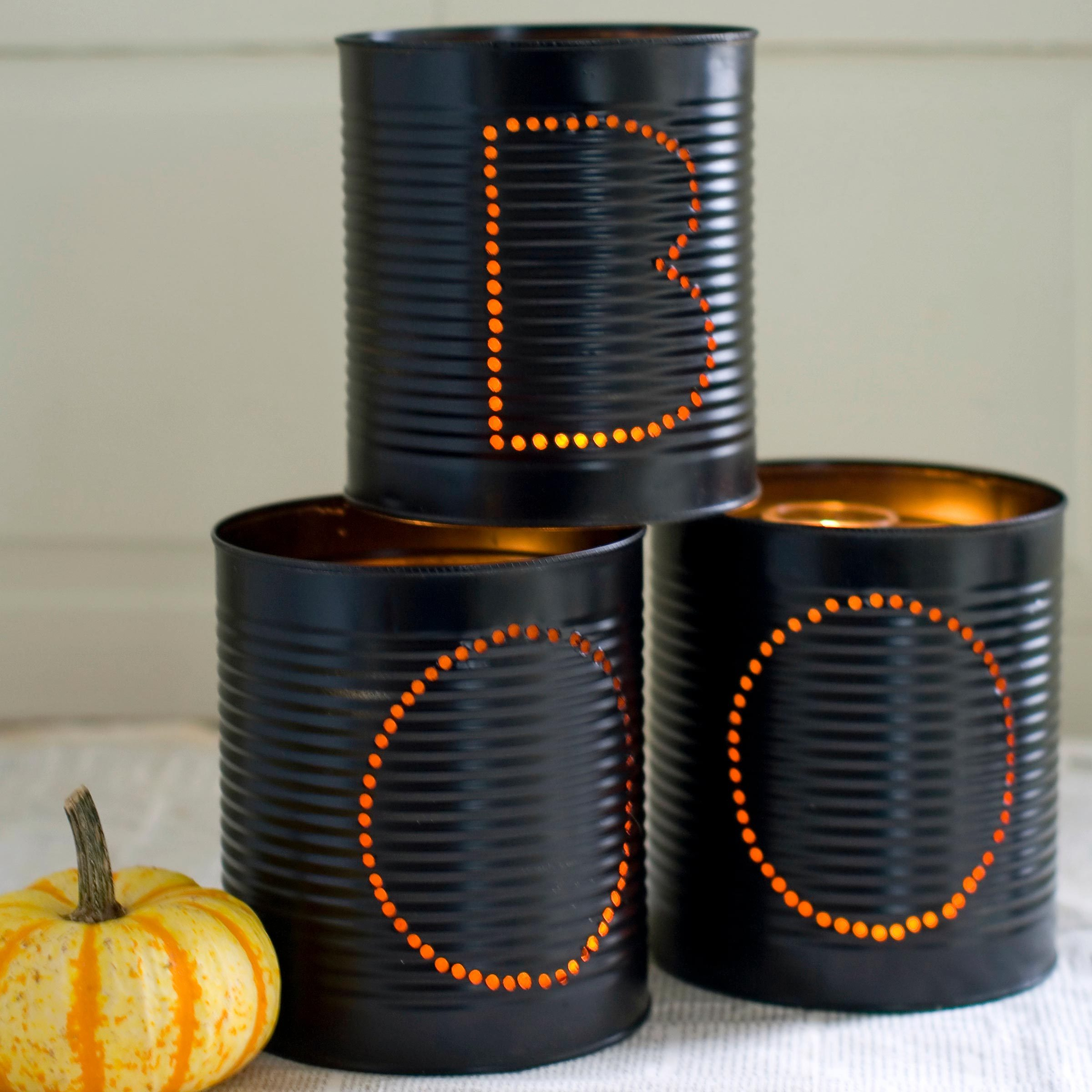 boo cans candle holders halloween craft