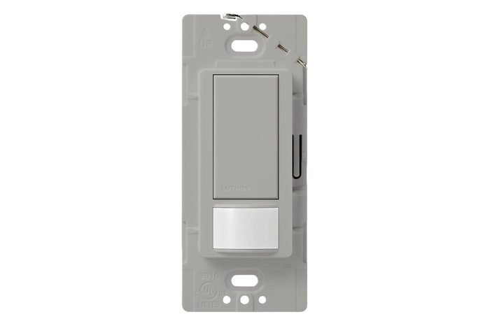 Lutron Maestro Sensor switch, 2A, No Neutral Required, Single-Pole, MS-OPS2-GR, Gray