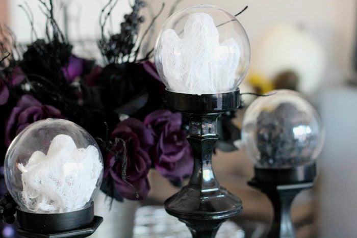 mini ghost globes halloween craft