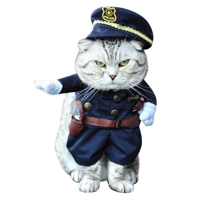 NACOCO Pet Policeman Costumes Dog and Cat Halloween Suits
