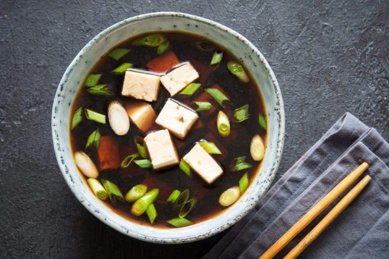 Prebiotics vs. Probiotics, miso soup