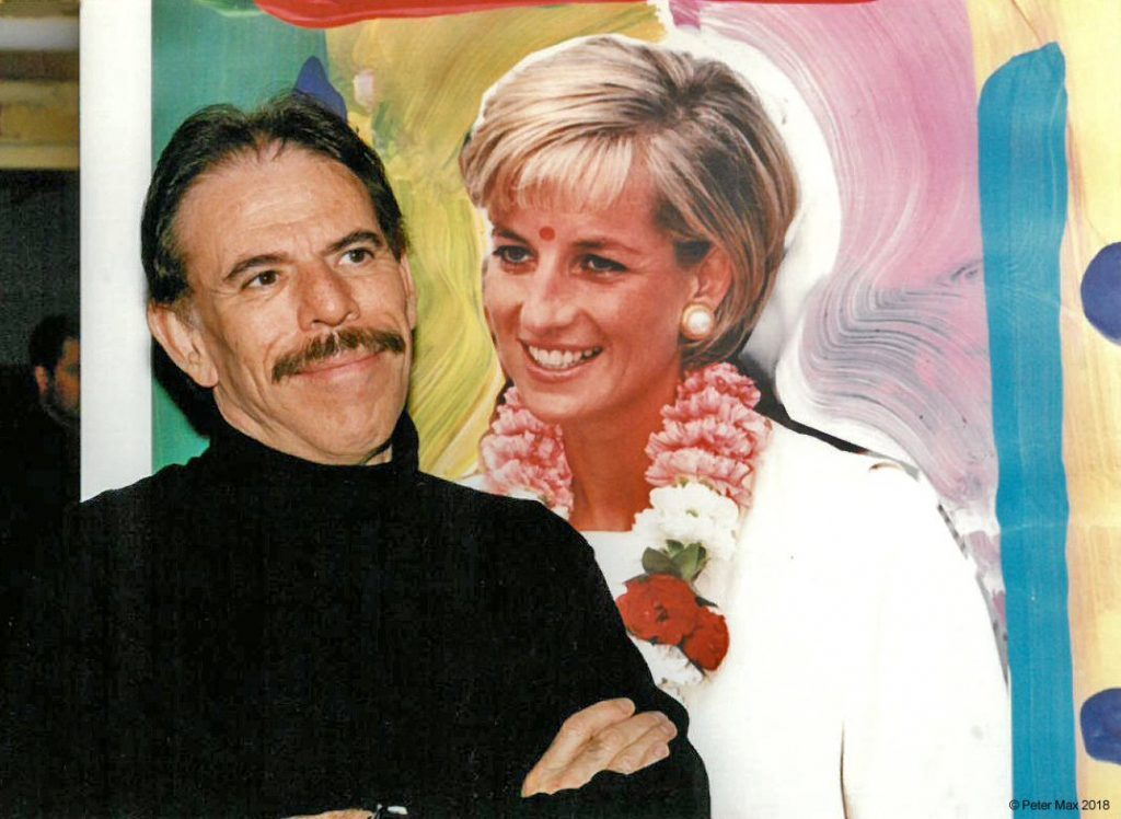 Princess Diana colorful portrait with Peter max