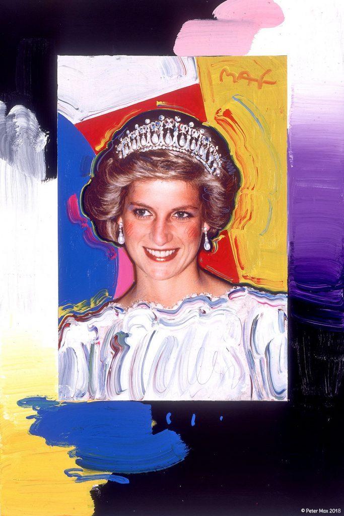 Princess Diana colorful portrait