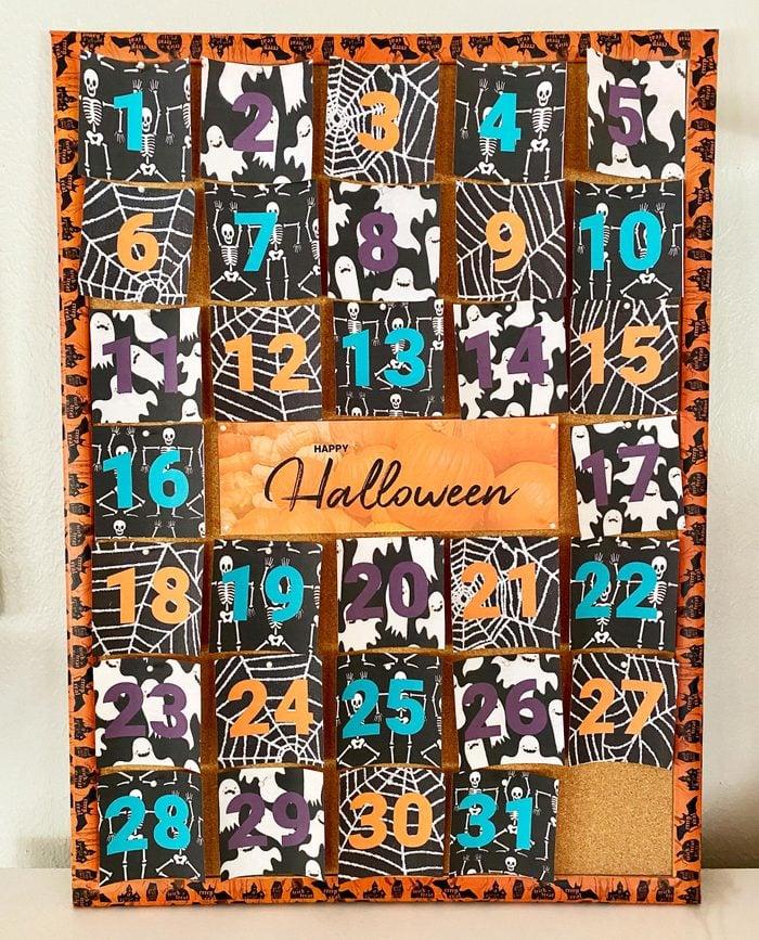 halloween countdown calendar craft