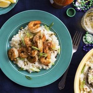 Cajun Shrimp Cauliflower Grits