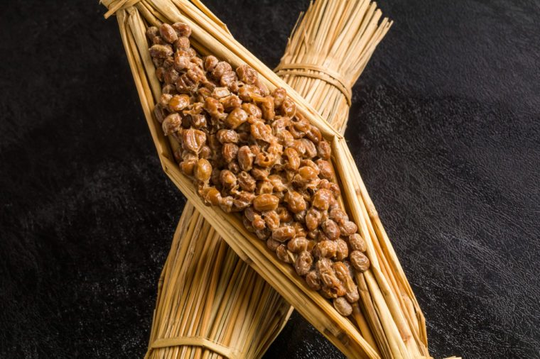 Soybean fermented food (natto) Japanese foods which let you ferment with straw
