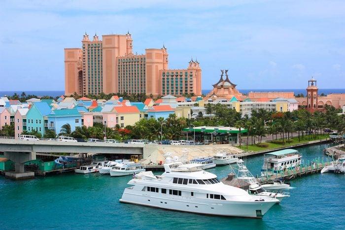 Paradise island and Atlantis resort in Nassau, Bahamas