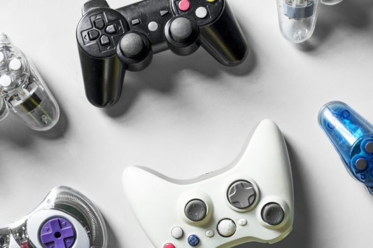 Game console isolated on background