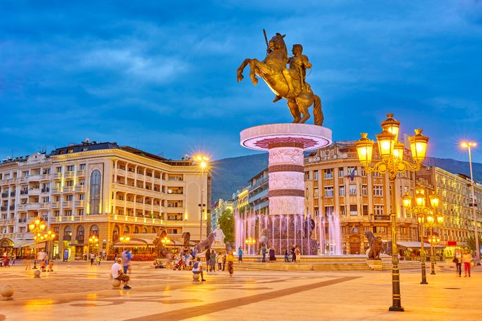 Statue of Alexander the Great, Macedonia Square, Skopje, Macedonia