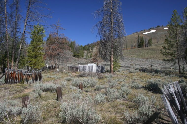 Ghost Town Cemetery in Central Idaho