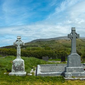 cemetery in the National park The Burren Ireland