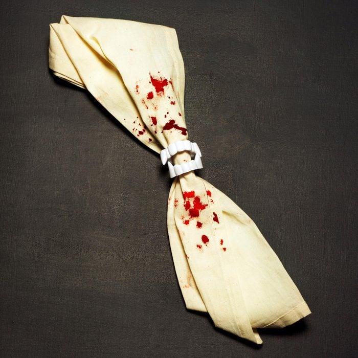 vampire napkin ring halloween craft