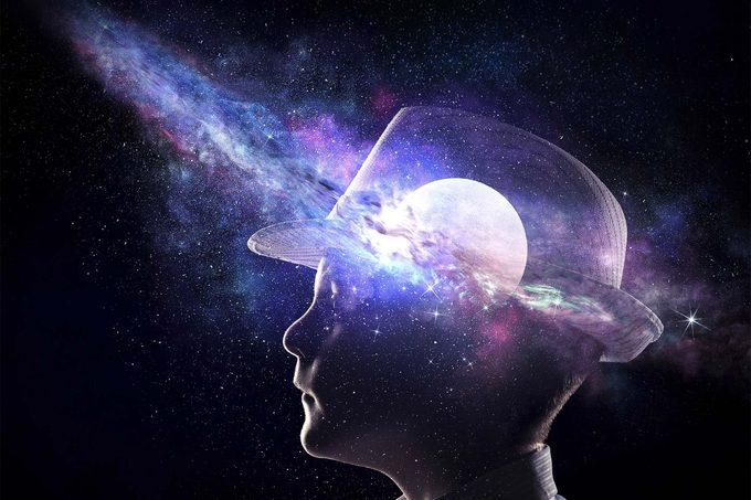 galaxy in head profile
