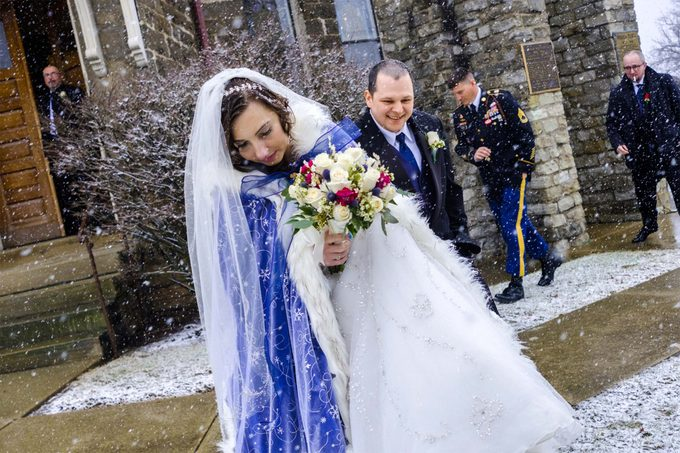 Elizabeth and James' wedding day