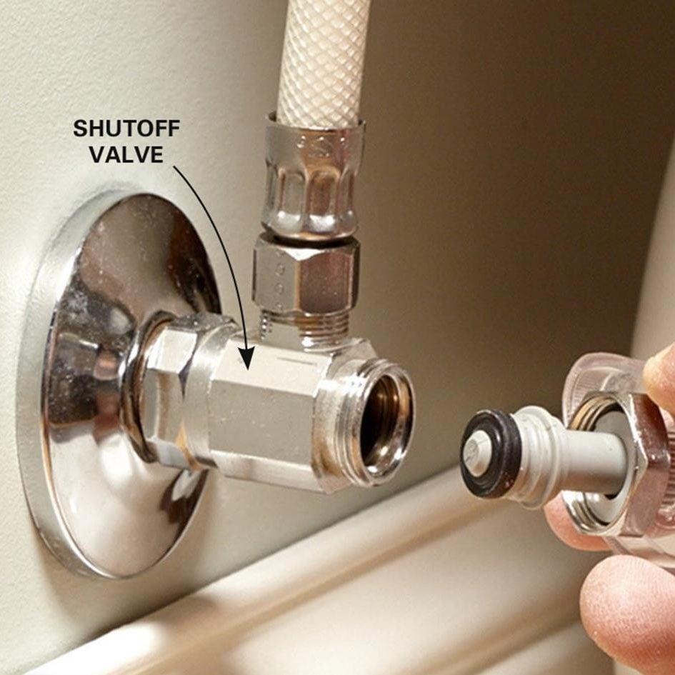 Fix a shutoff valve