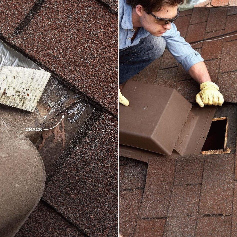 repairing roof vents
