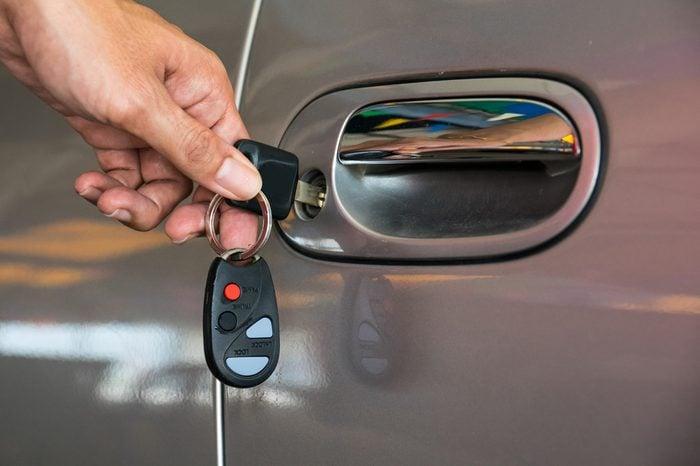 open car door with key