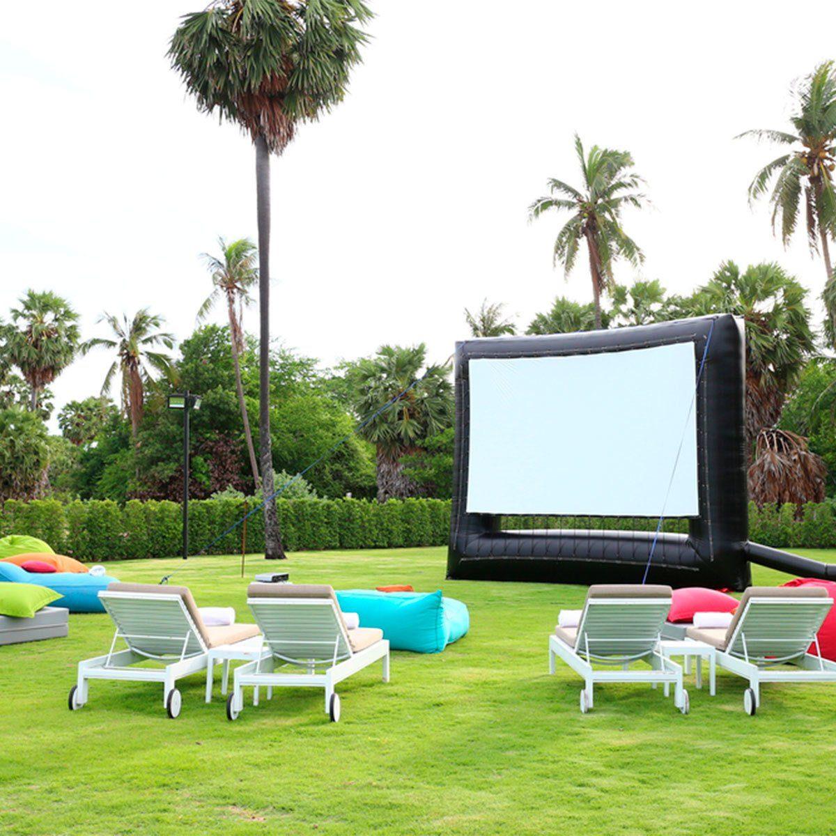 backyard projector screen