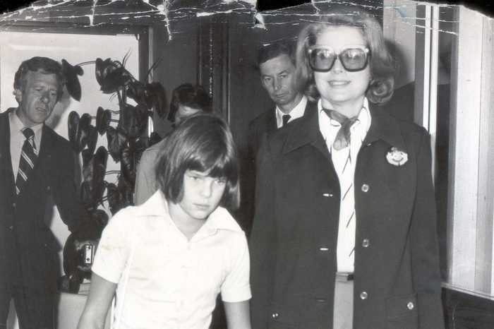Former Film Actress Princess Grace Of Monaco (grace Kelly) And Her Youngest Daughter Princess Stephanie Of Monaco Aged 10 At London's Heathrow Airport En Route For A Private Visit To Philadelphia U.s.a.
