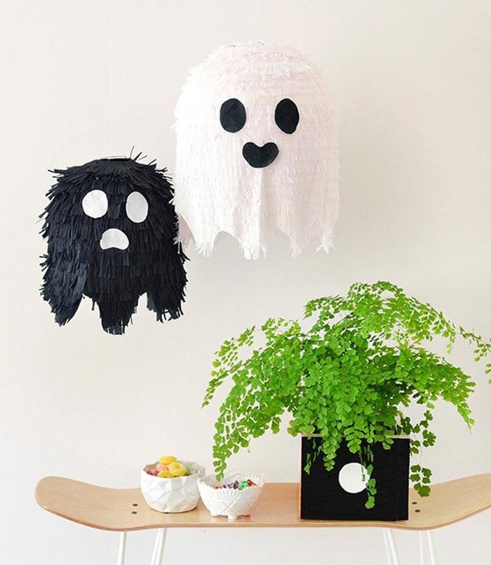 ghost pinatas halloween craft