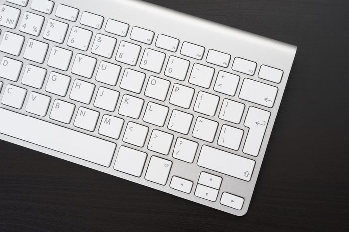 Keyboard in the workplace in the office