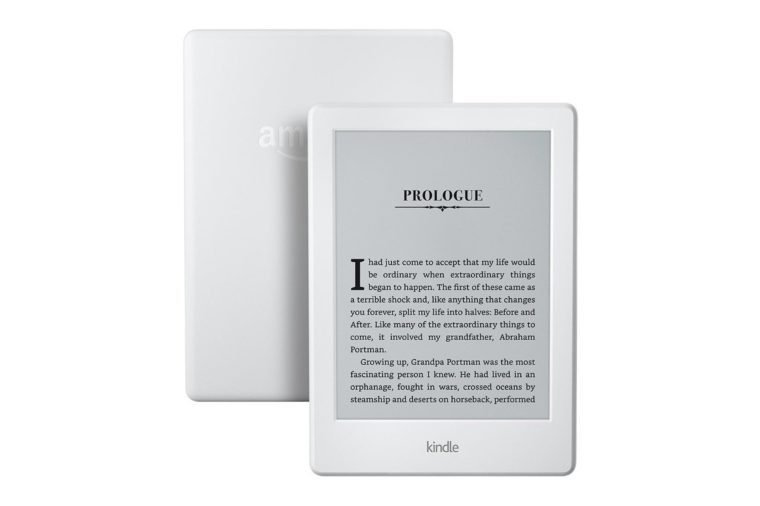 "Kindle E-reader - White, 6"" Glare-Free Touchscreen Display, Wi-Fi, Built-In Audible - Includes Special Offers"
