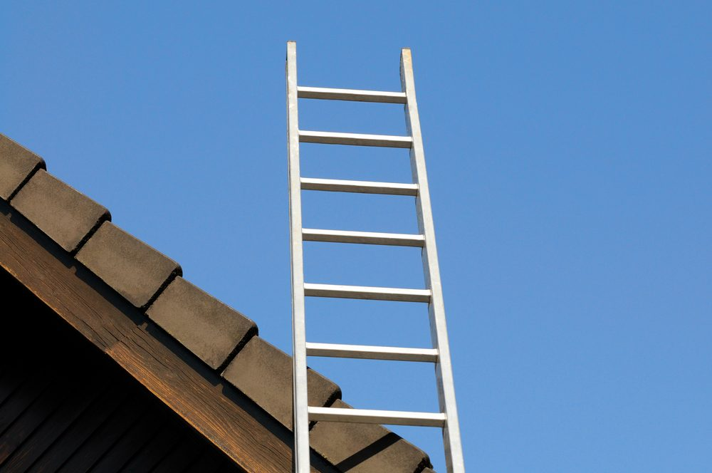 House gable and ladder