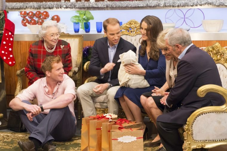 'Let's Do Christmas Lunch with Gino & Mel' TV Programme, London, Britain - 22 Dec 2013