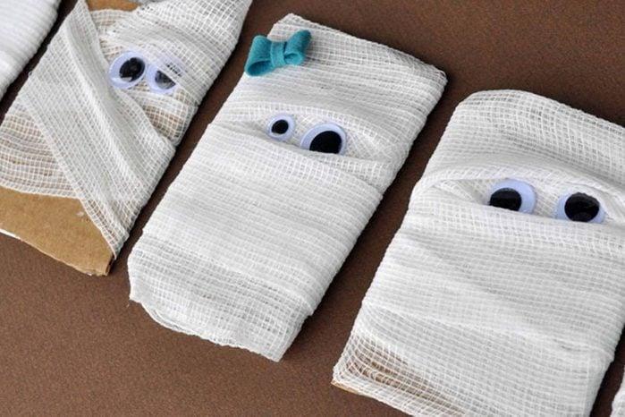mummy cards halloween craft