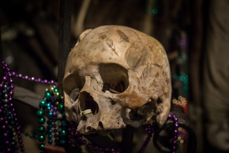 New Orleans, Louisiana / USA - June 24 2017: Museum of the history of the voodoo cult in the French Quarter in New Orleans, USA