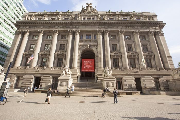 NEW YORK - May 28, 2015: The National Museum of the American Indian is located within the historic Alexander Hamilton U.S. Custom House.
