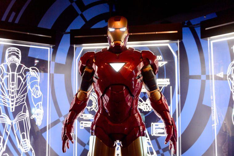 NEW YORK, USA - SEP 16, 2017: Iron Man (Tony Stark), Marvel cinematographic universe, Madame Tussauds NY wax museum.