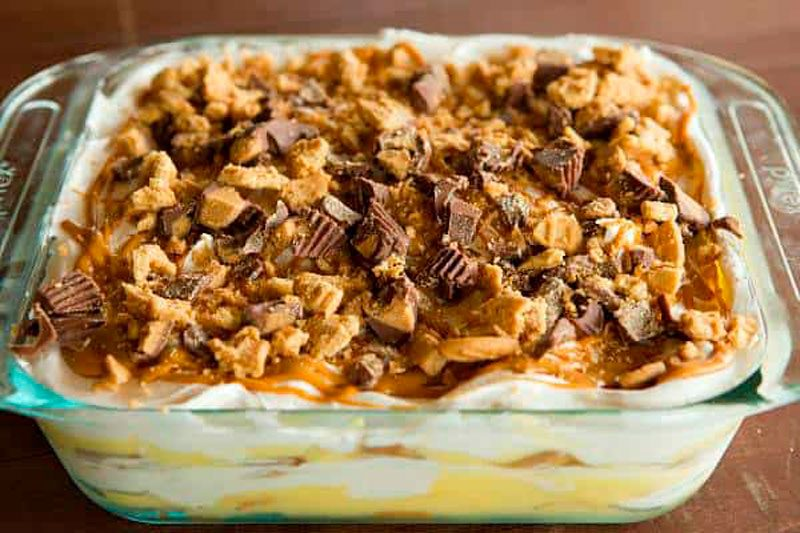 peanut butter icebox cake for leftover candy